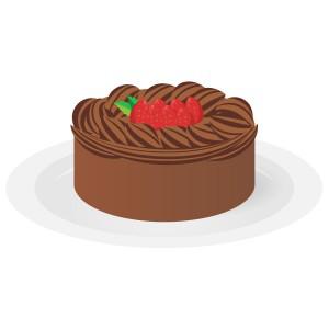 ケーキ - チョコレートホールケーキ