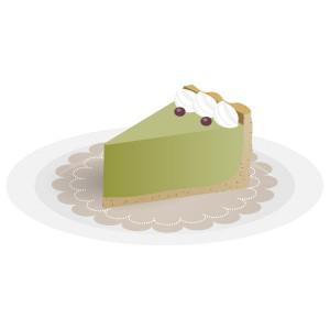 ケーキ - 抹茶ムースタルト