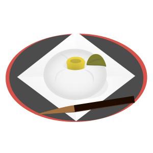和菓子 - ねりきり(白ツバキ)