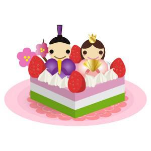 雛祭り - 雛ケーキ