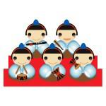 雛祭り - 五人囃子