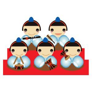 雛祭り五人囃子 フリーイラスト素材 趣味で作ったイラストを配る