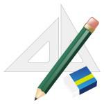 消しゴム&鉛筆&三角定規