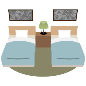 ホテル ビジネスホテル ホテル ツインルーム フリーイラスト素材 趣味で作ったイラストを配るサイト