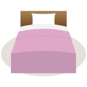 シングルベッド( ピンク)