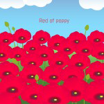 Red of poppy