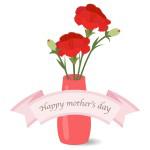 母の日に贈る真っ赤なカーネーション