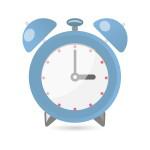 目覚まし時計(ブルー)