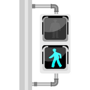 歩行者用信号(青)