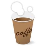 紙コップ入りコーヒー