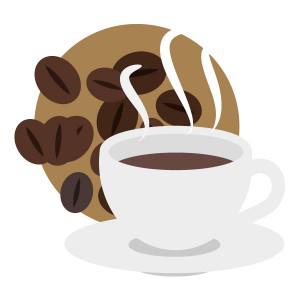 コーヒーコーヒー豆とコーヒー フリーイラスト素材 趣味で作った