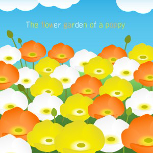 The flower garden of a poppy