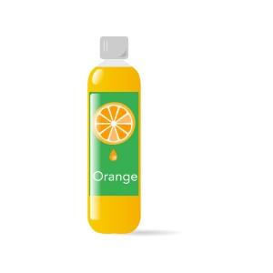 ペットボトルのオレンジジュース