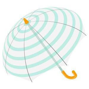 ボーダー柄のビニール傘