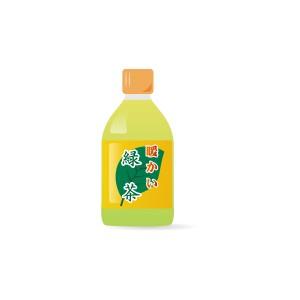 ペットボトルの暖かい緑茶