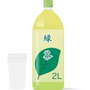 2Lペットボトルの緑茶