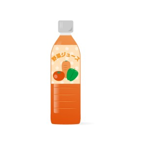 ペットボトルの野菜ジュース