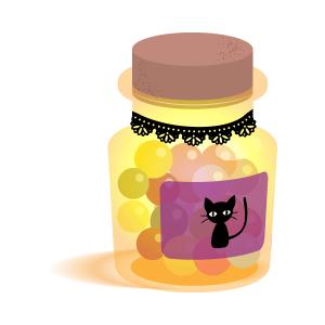 ハロウィンキャンディ(黒猫)