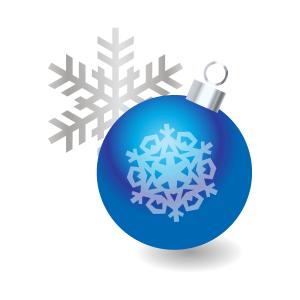 クリスマスクリスマスツリーオーナメントブルー フリーイラスト