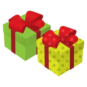 クリスマスプレゼントボックス フリーイラスト素材 趣味で作った