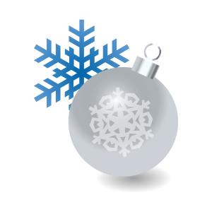 クリスマス クリスマスツリーオーナメント ホワイト フリーイラスト素材 趣味で作ったイラストを配るサイト