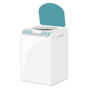 ふたが開いてる洗濯機