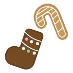 ジンジャークッキー(靴下とステッキ)