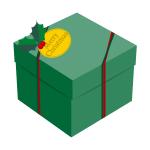 プレゼントボックス(緑)