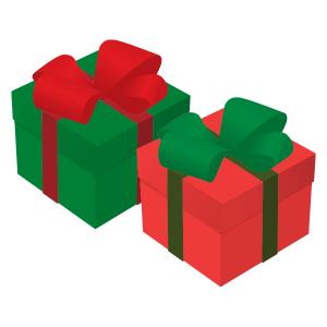プレゼントボックス(緑&赤)