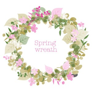 春spring Wreath2 フリーイラスト素材 趣味で作ったイラストを配る