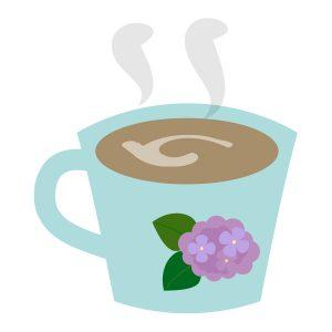 紫陽花のマグカップ