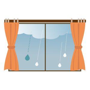 窓から眺める雨の日2016