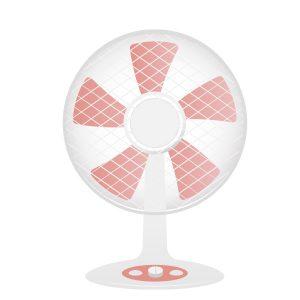 ピンクの扇風機
