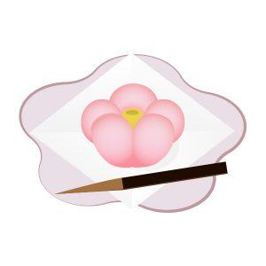 和菓子 ねりきり(紅梅)