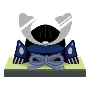 兜飾り(青)