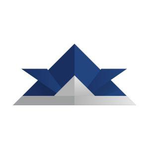 折り紙の兜(紺色)