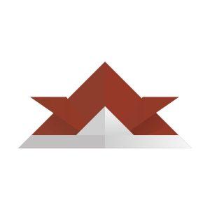 折り紙の兜(栗梅色)