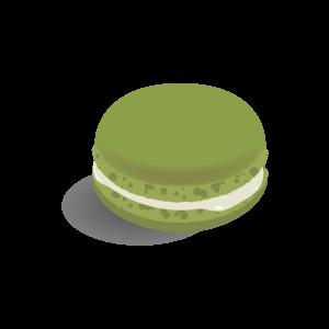 洋菓子洋菓子 マカロン抹茶 フリーイラスト素材 趣味で作った