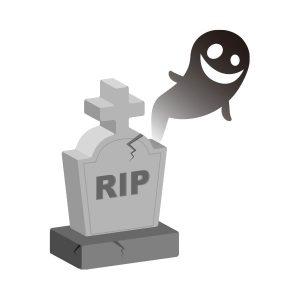 お墓(RIP)お化け付き