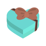 ハートのプレゼントボックス