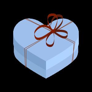 バレンタインハートのプレゼントボックス3 フリーイラスト素材