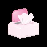 ボックス型のウェットティッシュ(ピンク)