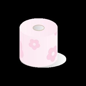 花柄トイレットペーパー