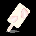 苺アイスキャンディー