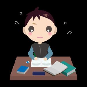 勉強する男の子01