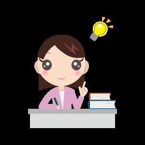 勉強する女の子(長袖)