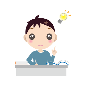 勉強する男の子(長袖)