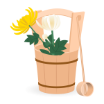 手桶と仏花
