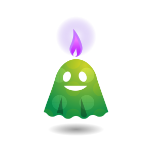 ハロウィン キャンドル(オバケ02)