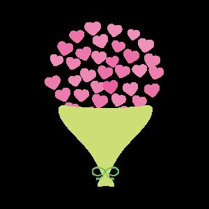 バレンタイン ハートの花束( ピンク )